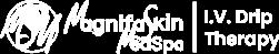 magnifaskin medspa iv therapy logo white for header