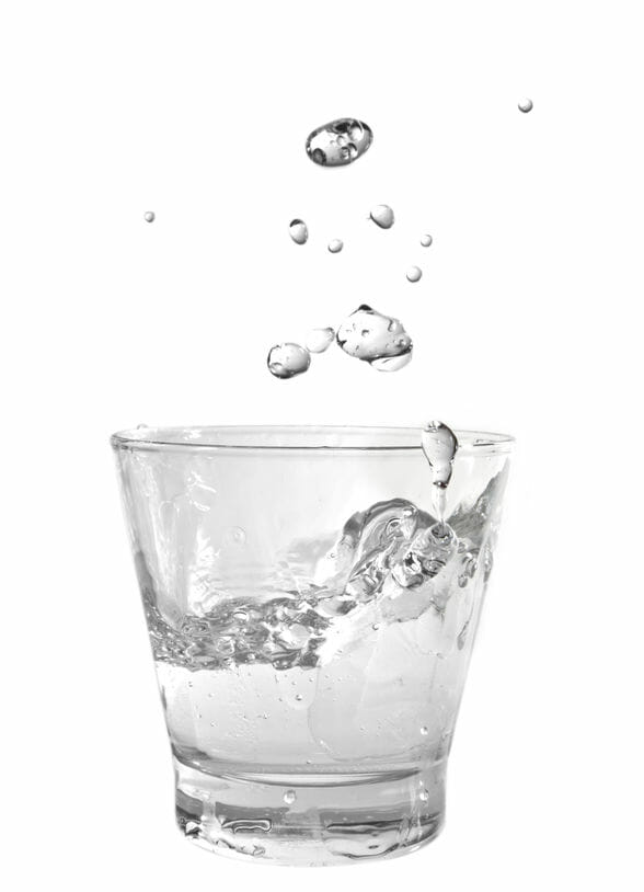 Water is a chemical compound with the chemical formula H 2O. A water molecule contains one oxygen and two hydrogen.