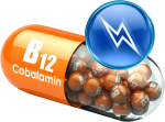 3d render of B12 pill for injection therapy megadose