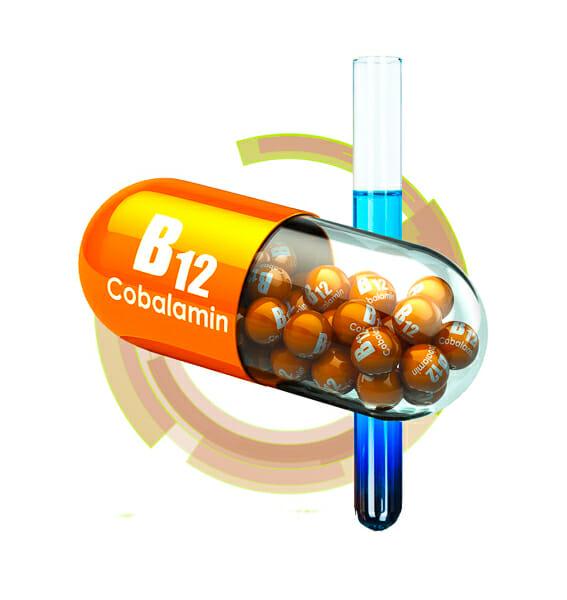 vitamin B12 capsule 3d rendering