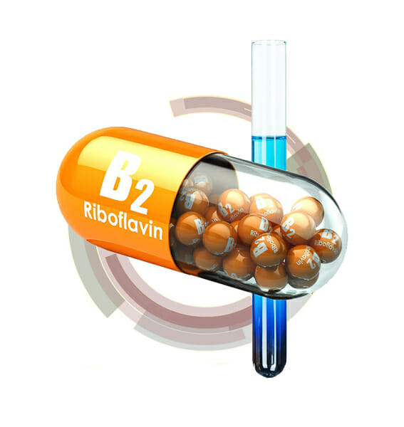 vitamin B2 (riboflavin) capsule 3d rendering