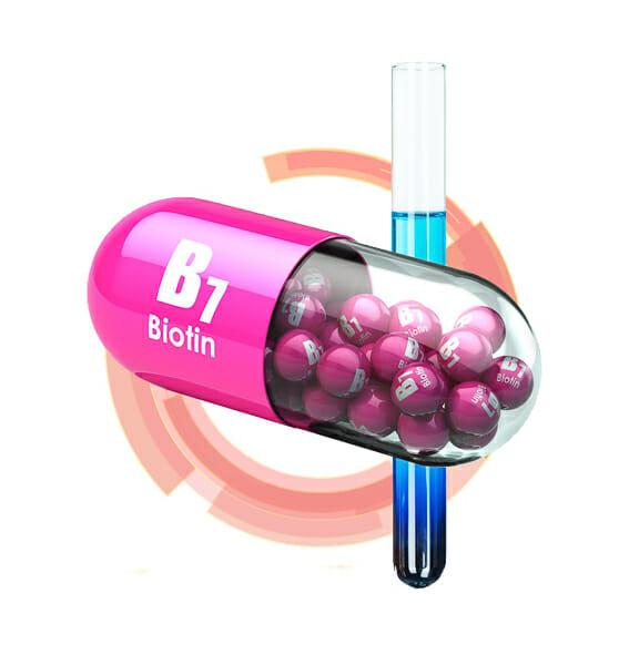vitamin B7 biotin capsule 3d rendering