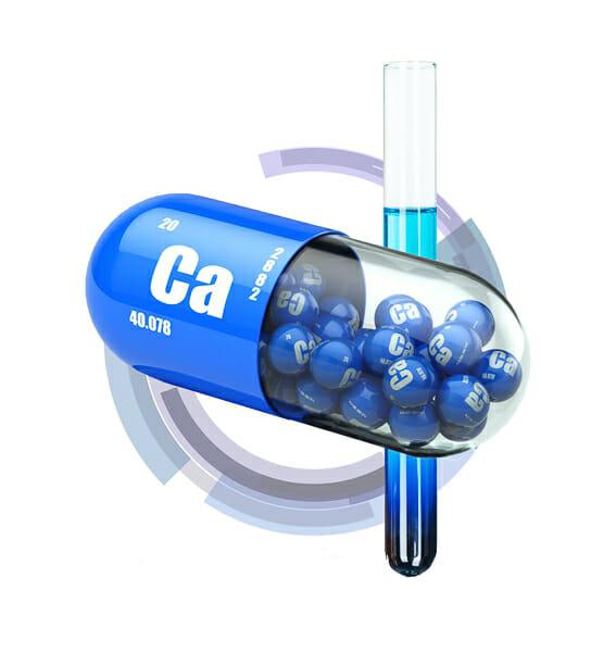 calcium capsule 3d rendering
