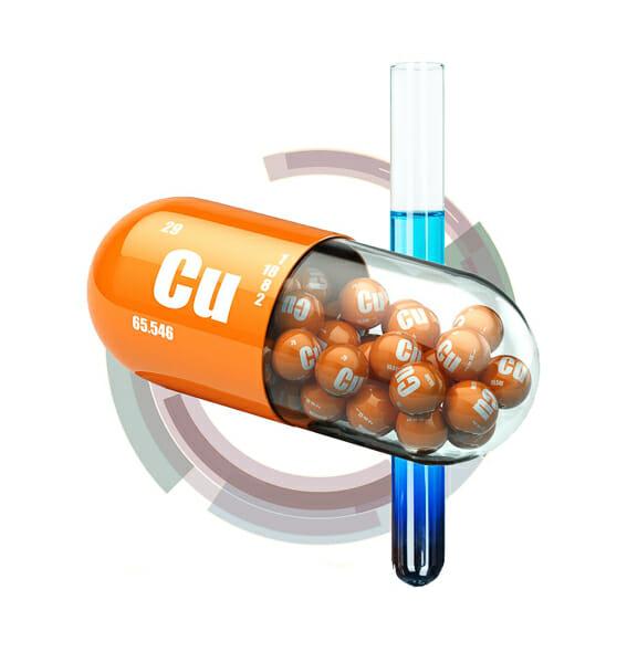 Copper capsule 3d rendering