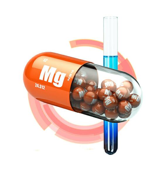 Magnesium capsule 3d rendering