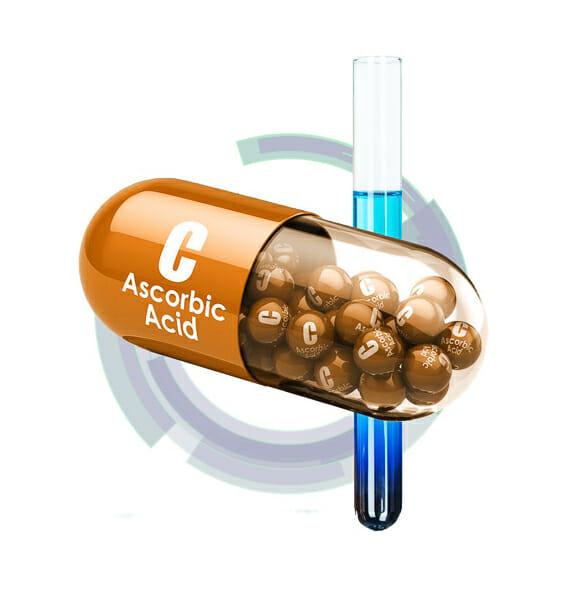vitamin c capsule 3d rendering